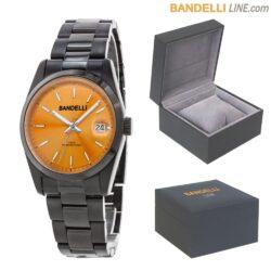 Orologio CARPE DIEM - Acciaio Nero Quadrante Arancio Medium