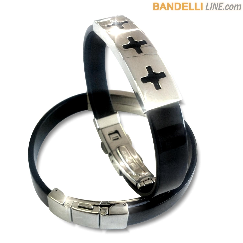 Arcobaleno - Braccialetto Ring Nero B - Ring Black B