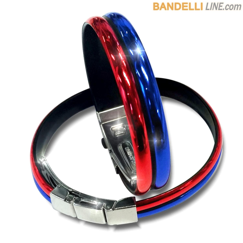 Braccialetto Onda 2 Rosso Blu Lucido - Shiny Red Blue