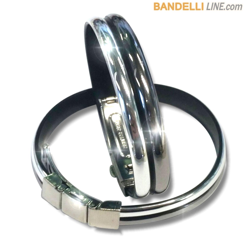 Braccialetto Onda 2 Fumè Argento Lucido - Shiny Smoked Silver