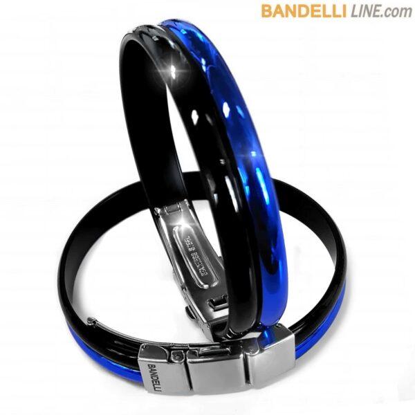 Braccialetto Onda 2 Nero Azzurro - Shiny Blue Black