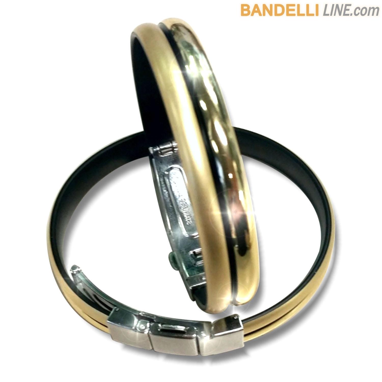 Braccialetto Onda 2 Oro Lucido Satinato - Shiny Satin Gold
