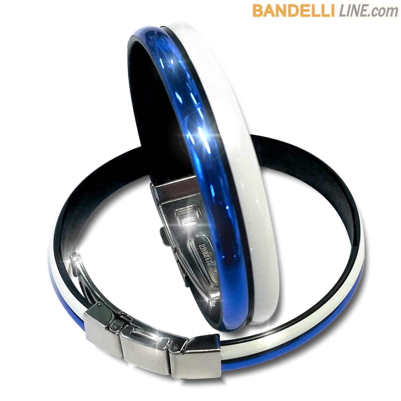 Braccialetto Onda 2 Bianco Blu Lucido - Shiny White Blue