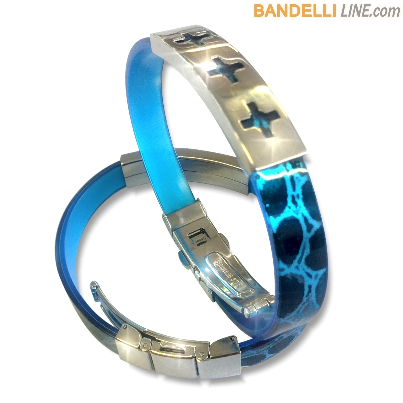 Arcobaleno - Braccialetto Ring Blu E - Ring Blue E