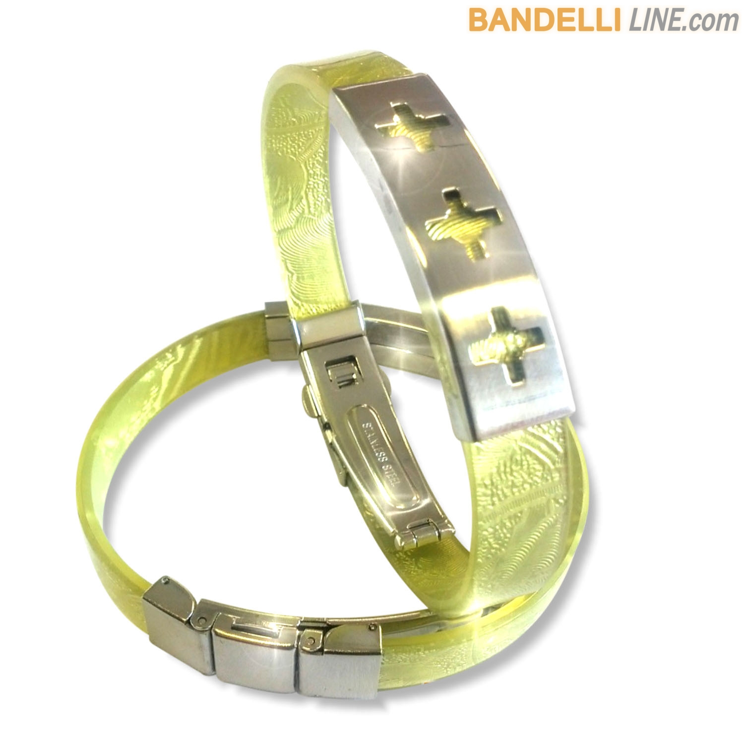 Arcobaleno - Braccialetto Ring Giallo C - Ring Yellow C
