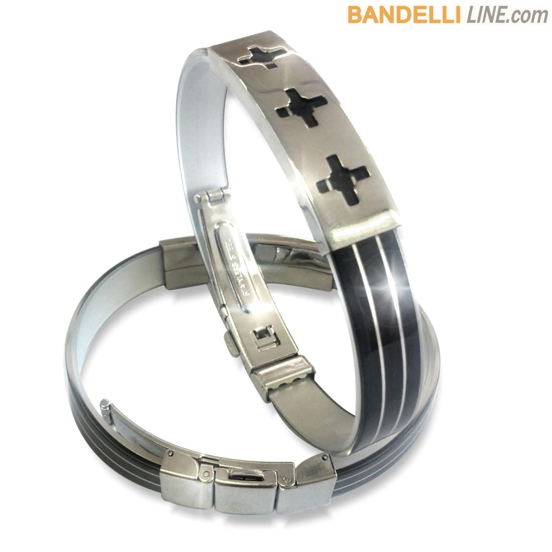 Arcobaleno - Braccialetto Ring Nero A - Ring Black A