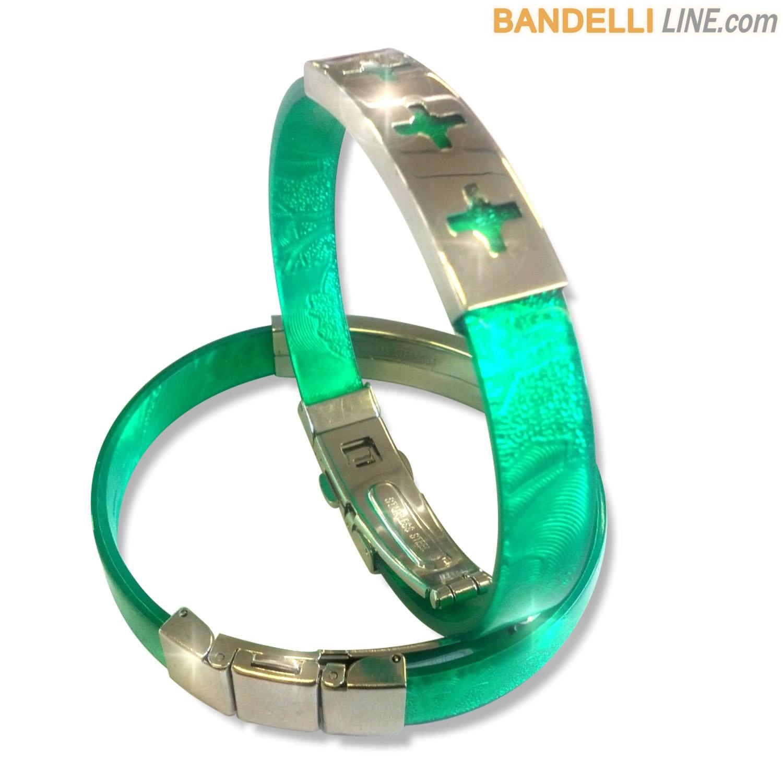 Arcobaleno - Braccialetto Ring Verde B - Ring Green B