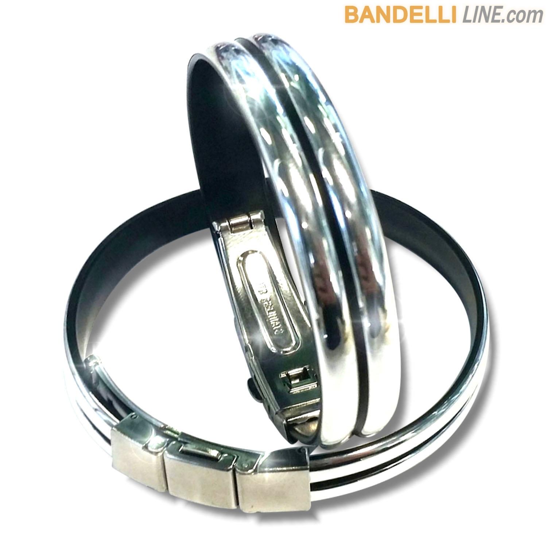 Braccialetto Onda 2 Argento Lucido - Shiny Silver