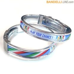 "Braccialetto "" Play Your Chance ! "" Tricolore Azzurro"